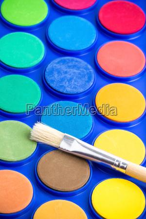 light, paintbrush, and, unused, water, paint - 16352767