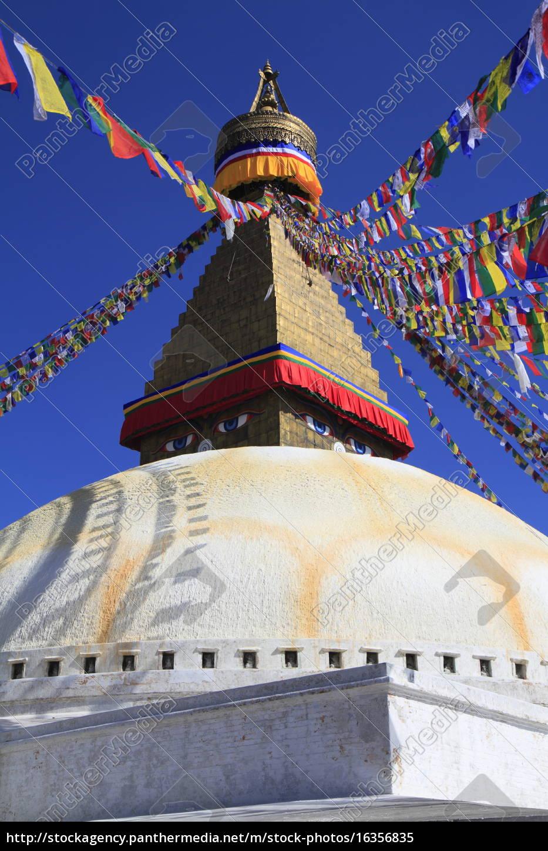 boudhanath, in, kathmandu, , nepal. - 16356835