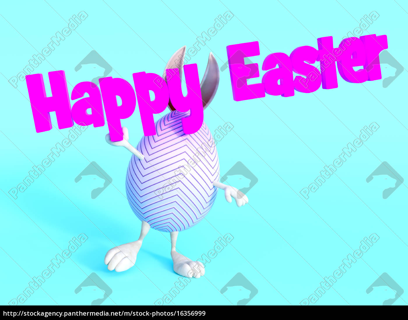 cute, easter, bunny, egg, holding, happy - 16356999