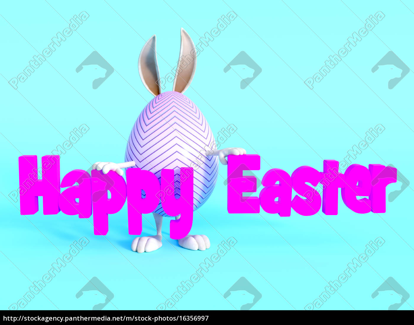 cute, easter, bunny, egg, standing, behind - 16356997