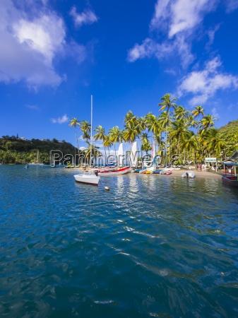 caribbean st lucia marigot bay sailing