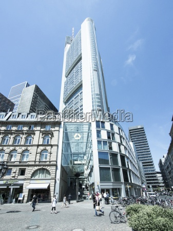 germany hesse frankfurt commerzbank tower