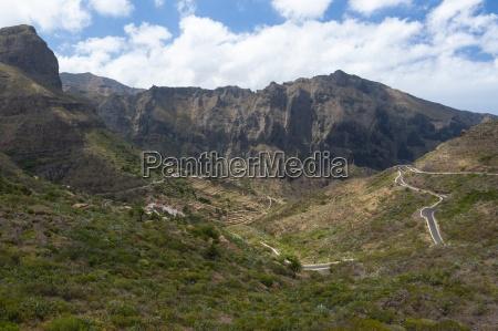spain canary islands tenerife mountains on