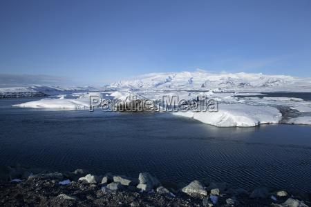ice floes at glacier lagoon jokulsarlon