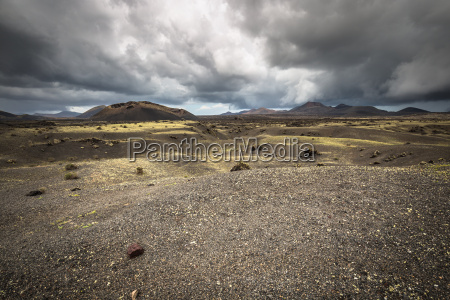 volcanic landscape at timanfaya national park
