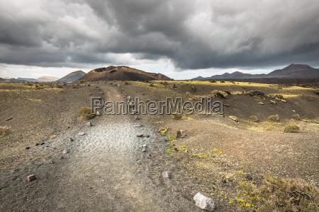 volcanic landscape at timanfaya national park