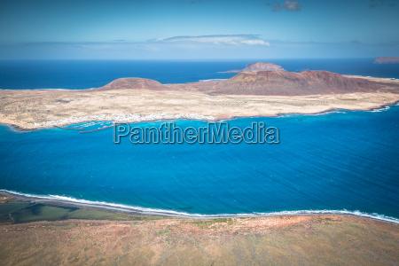 view of graciosa island from mirador