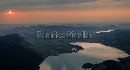 austria salzkammergut lakes mondsee and irrsee