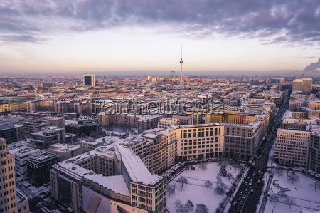 germany berlin cityview with leipziger strasse