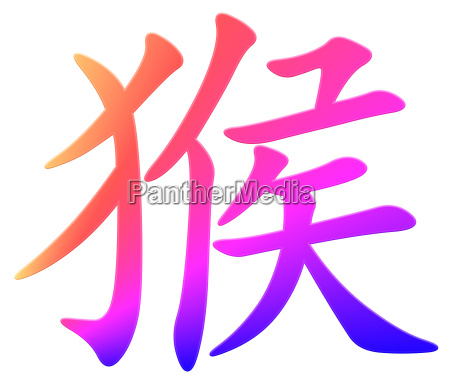 chinese character for monkey