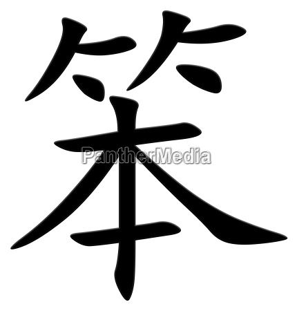 chinese character for stupid