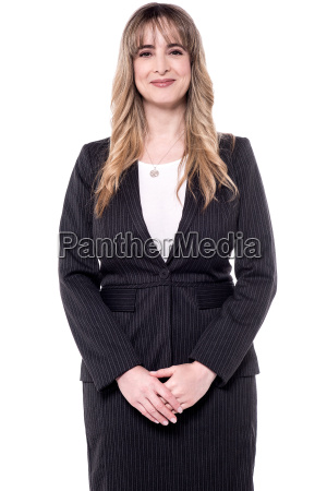 beautiful business woman posing to camera