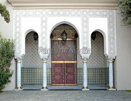 ornamented door hassan ii mosque casablanca