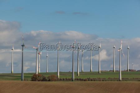 windmills in nordharzer vorland