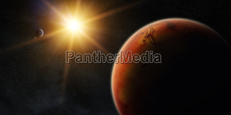 view of planet mars