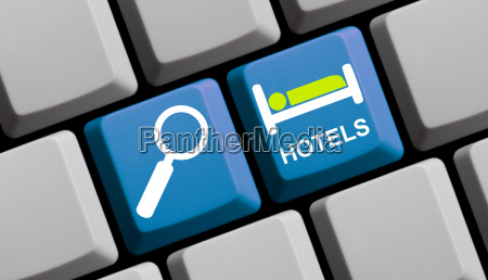 search online for hotels