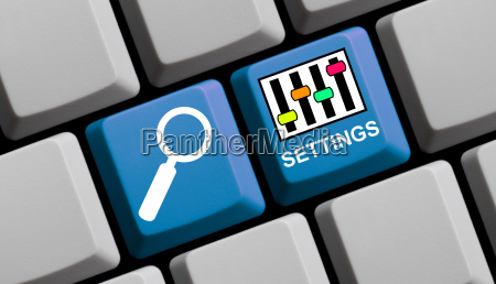 search online for settings