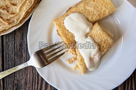 fried tasty pancakes