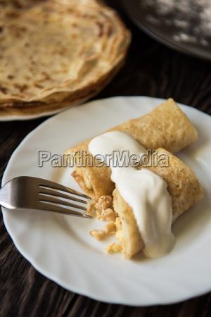 fried tasty pancakes