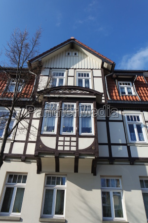 half timbered architecture in wernigerode resin