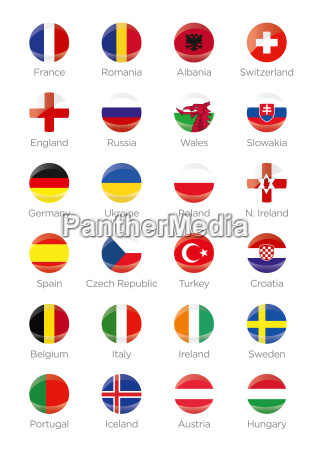 symbols of all football participating countries