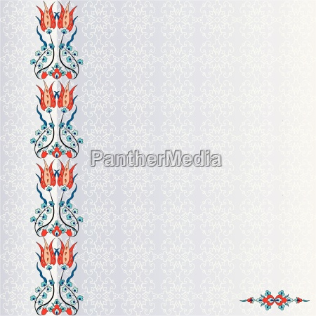 antique, ottoman, turkish, pattern, vector, design - 16447086