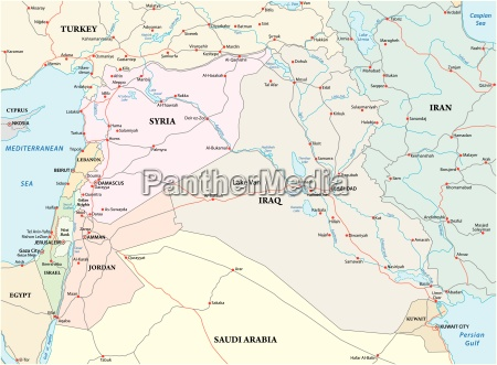 administrative political and road map of