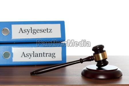asylum law with hammer