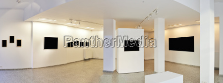 panoramic view of a exhibition gallery