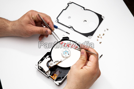 virus infected disk