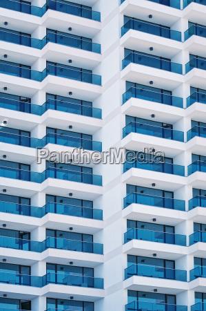 high rise building facade