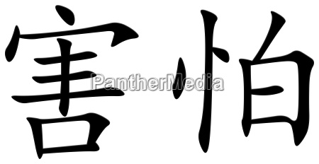 chinese character for fear