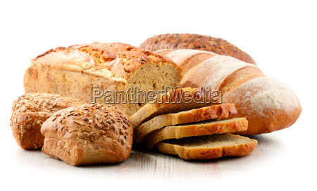 composition with assorted baking products isolated