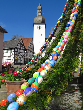 easter fountain in arnsberg old town