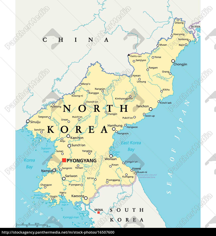 Royalty free vector 16507600 - North Korea Political Map