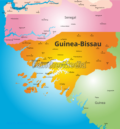 color map of guinea bissau
