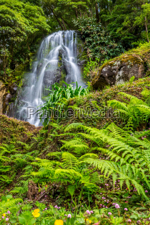 famous cascade at sao miguel island