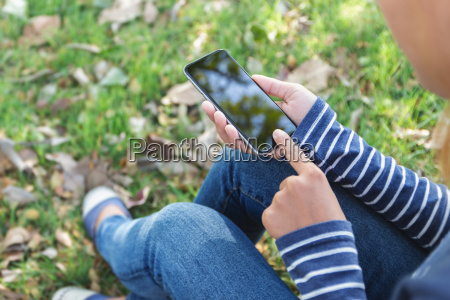 woman using phone outdoor lifestyle