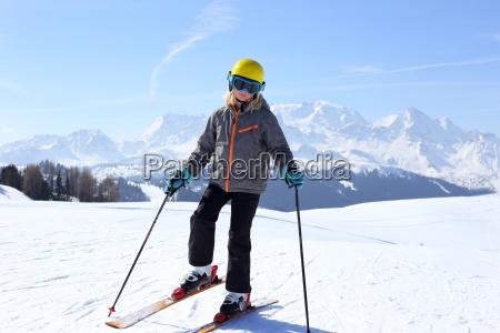 ski day in the alps