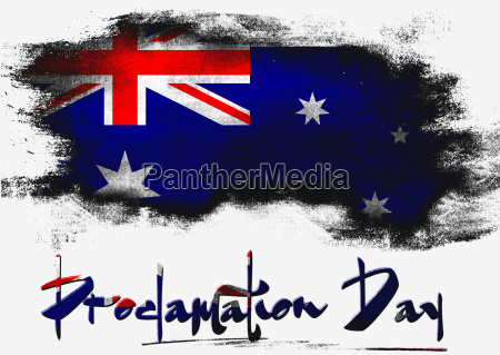 proclamation day with australia flag