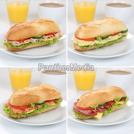healthy nutrition collection of baguettes for