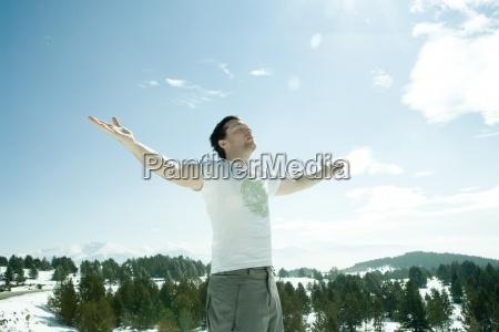 homens homem lazer cor montanhas pensar