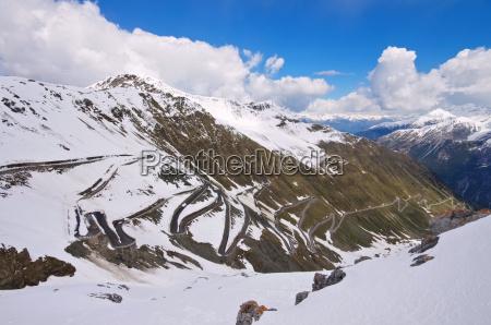 stelvio in winter stelvio pass