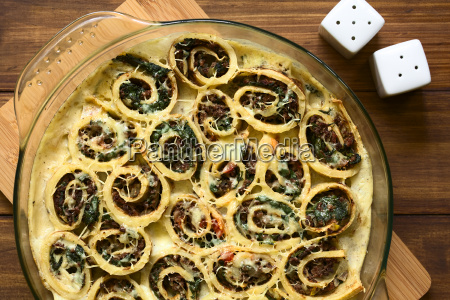 baked crepe roll casserole