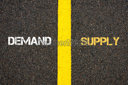 antonym concept of demand versus supply