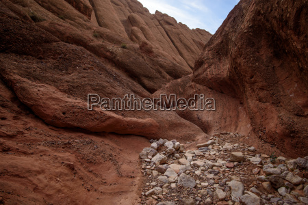 scenic landscape in dades gorges atlas
