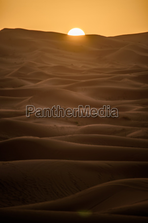 sunrise over the dunes morocco sahara