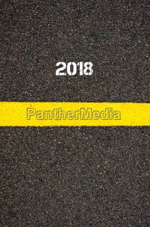 road marking yellow line year 2018