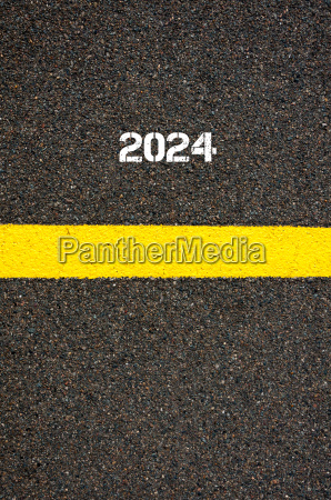 road marking yellow line year 2024