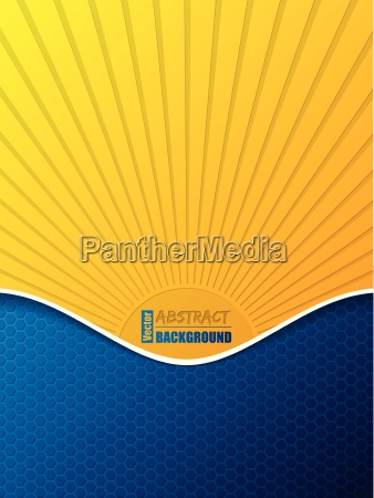 hexagon pattern business brochure with bursting